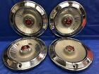 Vintage Set Of 4 1965 Dodge 15 Hubcaps Polara Monaco 500 Good Condition