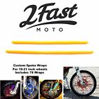 2FastMoto Spoke Wrap Kit Orange Covers Skins Wraps Skinz Custom Wheels Honda