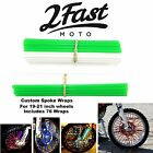 2FastMoto Spoke Wrap Kit Green White Skins Wraps Custom Spoked Wheels Honda