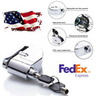 US Shipping Motorcycle Disc Brake Lock Anti-theft Alarm Chrome Stainless Steel