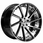 22 Staggered ERW Wheels ERW 3 Black Machined Rims SD
