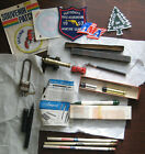Lot of my Junk drawer stuff Patches Pencils lock Toy Cannon tiny Car++