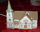 1992 Lemax Dickensvale Collectibles Village White Porcelain Church Lighted