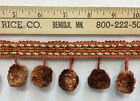Onion Ball Trim Sewing Crafts Round Pom Pom Fringe Copper Red Gold 6 Pieces