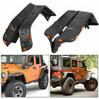 Pocket Style Rivet Front Rear Fender Flares with LED For 07 18 Jeep JK Wrangler