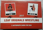 Leaf Originals Wrestling Hobby Box 2017 5 on Card Autographs
