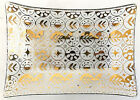 Georges Briard Glass Serving Dish Gold Persian Garden MCM 8