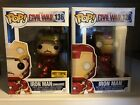 Funko POP! Marvel: CIVIL WAR - IRON MAN (unmasked). #136 Hot Topic Exclusive Lot