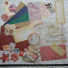 Card Making Kit Geography Paper  Embellishments for 5 Cards Great for Guys