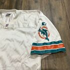 90's VINTAGE STARTER PRO LINE AUTHENTIC AWAY MIAMI DOLPHINS BLANK JERSEY SIZE 52