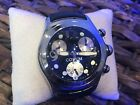 Corum Bubble Top Men's Chronograph Watch Black Leather Band