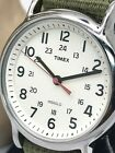Timex Men's Weekender Olive Fabric Band Quartz Watch Indiglo SS Case T2N651