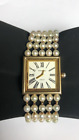 CHANEL Mademoiselle Pearl 18k Gold Quartz Watch Mint! Rare!!