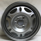 New 15 Inch 3 Lug Silver Steel Wheels Fits Smart Car Front 2008 2014 WE28158
