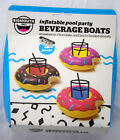 NEW 3 Pack Inflatable Donut Beverage Boats Pool Party Favorite Cup Drink Holder