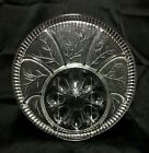 Vintage Indiana Glass Clear Tree of Life Deviled Egg Relish Plate Tray 8-Egg EUC