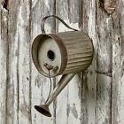 Watering Can Birdhouse Distressed Metal Bird House for Hanging Outdoors