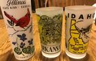Vintage Hazel Atlas Frosted Illinois, Arkansas, Idaho State Collectors Glasses