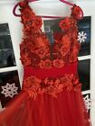 red Image Couture pageant prom gown size 46