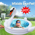 Giant Inflatable White Swan Pool Baby Infant Pool Swimming Ride On Kids Raft