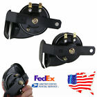 2x Waterproof Compact Loud Snail Air Horn 12V 110dB Loud Horn US Shipping  !