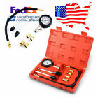 Motorcycles Petrol Engine Cylinder Compression Tester Tool Kit US Stock !