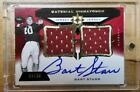 BART STARR 2013 UPPER DECK MATERIAL SIGNATURES DUAL PATCH AUTO 04 30