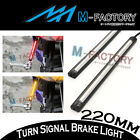 22cm Rear Fairing Brake + Indicator Led Strip Lights For VN900 VN1700 W800 ZX6R