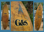 surfboard G  S Vintage Surf Board Vintage Yellow Color Single Fin Classic