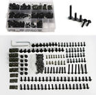 223Pcs Black Aluminum Motorcycle Windscreen Fairing Bolts Fastener Clips Screws