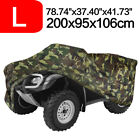 L Camouflage Waterproof ATV Cover 4 Wheel For Polaris Can-Am Honda Yamaha Suzuki