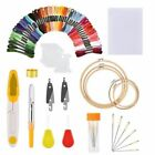 DIY Magic Craft Tools Punch Needle Sewing Embroidery Pen Set 50 Threads