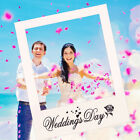 Wedding Day Photo Booth Prop Large Paper Picture Frame Hen Party Backdrop Decor