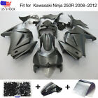 Fairing Kit For Kawasaki Ninja 250R EX250 2008 2012 Black ABS Body Work + Bolts