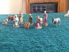 10 miniature Nativity scene figures marked France
