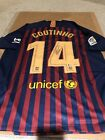 PHILIPPE COUTINHO Signed FC BARCELONA #14 NIKE Jersey AUTO BECKETT COA Size XL