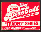 1986 TOPPS TRADED SERIES FACTORY SET ROOKIES BARRY BONDS AND BO JACKSON MINT