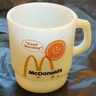 Vtg Stacking McDonald's GOOD MORNING Coffee Cup Mug Fire King Anchor Hocking