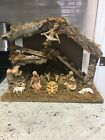 VINTAGE ITALIAN NATIVITY SET CHRISTMAS MANGER SCENE 8 Pieces MADE IN ITALY