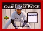 Derek Jeter 2000 Upper Deck GAME JERSEY PATCH Game Used 1:10,000 Pack Pin Stripe