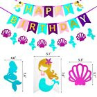MAHI Mermaid Party Decorations set Pom Poms Flowers Happy Birthday Banners