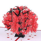 Flower Pop Up Card All Occasion 3D Japanese Maple Decorative Gift Greeting Card