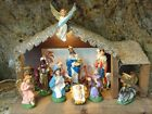 15 Pcs Vintage Nativity Scene Creche Made in Italy Papier Mache Plaster of Paris