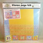 Baby Theme Page Kit Scrapbook Vellum Cardstock Layout Ideas Pressed Petals