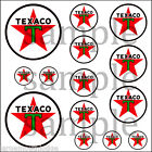 TEXACO (B) HOBBY DECALS DECAL QUALITY WATERSLIDE TRUCK TRAIN DIORAMA LAYOUT