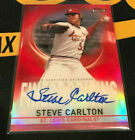 2019 TOPPS FINEST STEVE CARLTON AUTOGRAPH RED REFRACTOR # 2 5 RARE ON CARD