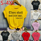 Women Fashion O Neck Letter Print Short Sleeve T Shirt Tops Blouses Casual Tee