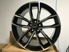 19 BLACK MACHINE S5 STYLE RIMS WHEELS FITS A3 A4 A5 A6 A7 A8 AUDI 5X112 BOLT