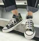 Womens Canvas Camouflage Leopard High Top Sneakers Lace Up Casual Sport Shoe A47
