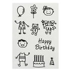 Happy Birthday Silicone Rubber Clear Stamp Seal Scrapbooking Diary Card US